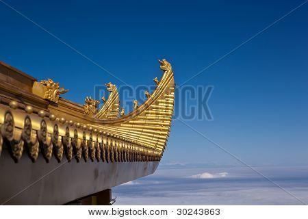 Closeup Of Mount Emei Golden Palace