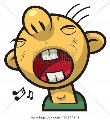 Singing boy