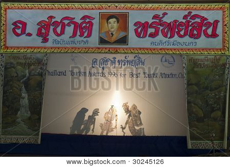 Traditional Thailand Shadow Puppet Show