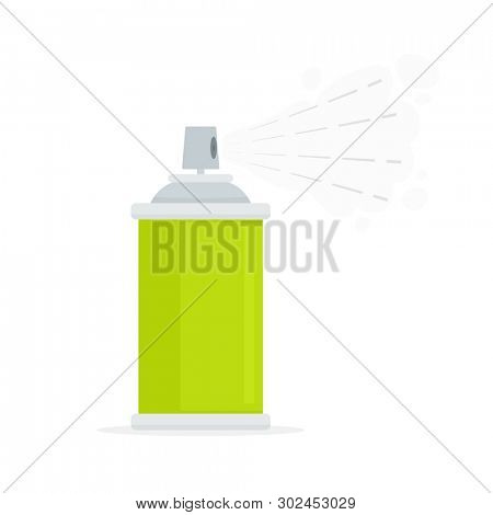 Spray can icon. Clip art isolated on white background