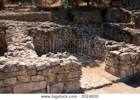 Shop Ruins At Phaistos, Crete