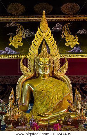 Phra Buddha Chinnarat Marble temple,Wat Pan Toa, Thailand poster