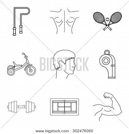 Wellness Lifestyle Icons Set. Outline Set Of 9 Wellness Lifestyle Icons For Web Isolated On White Ba