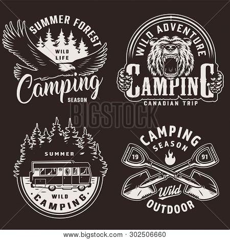 Vintage Camping Vector & Photo (Free Trial) | Bigstock