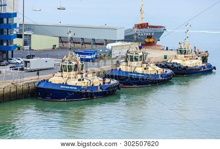Southampton, England - September 18, 2016: The Port Of Southampton Is A Passenger And Cargo Port In
