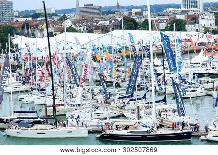 Southampton, England - September 18, 2016: The Southampton Boat Show Is One Of The Largest In Europe