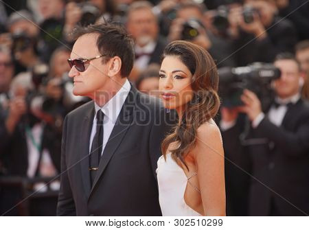 Quentin Tarantino and Daniela Pick attend the screening of