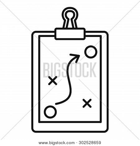 Sport Tactical Board Icon. Outline Sport Tactical Board Vector Icon For Web Design Isolated On White