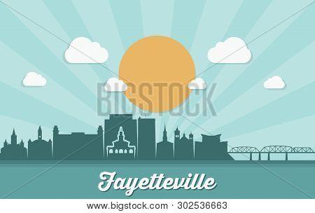 Fayetteville Skyline - United States Of America, Usa, North Carolina - Vector Illustration - Vector