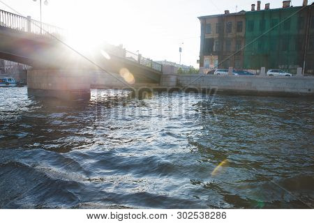 St .Petersburg, Russia , Palace Bridge and Peter and Paul Fortress poster