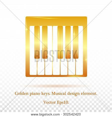Piano Design, Piano Web, Piano Art, Piano App, Piano Background.music.gradient Golden Colors.golden