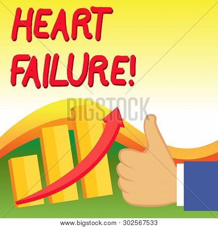 Text Sign Showing Heart Failure. Conceptual Photo The Severe Failure Of The Heart To Function Proper