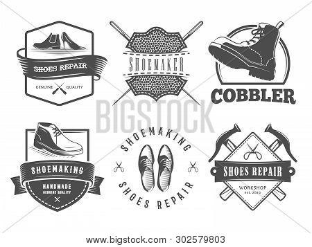 Shoes Repair Logos  Vector & Photo (Free Trial)   Bigstock