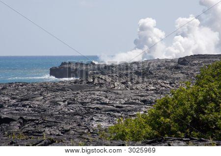 Kalapana Lava Entering The Ocean