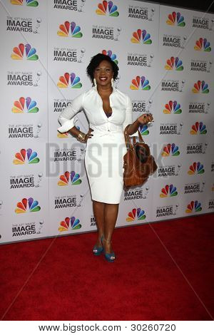 .LOS ANGELES - FEB 17:  India.Arie arrives at the 43rd NAACP Image Awards at the Shrine Auditorium on February 17, 2012 in Los Angeles, CA.