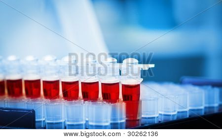 Blood samples for research in microtubes