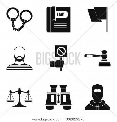 Molestation Icons Set. Simple Set Of 9 Molestation Icons For Web Isolated On White Background