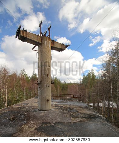 Abandoned Platform Of Old Railway Structure In Sweden .