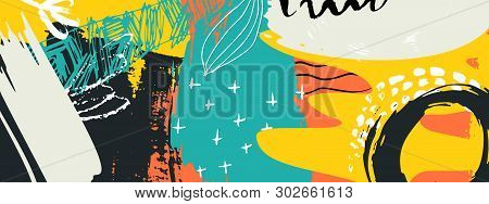 Vector  Abstract Composition. Colorful Design For  Posters, Covers And Headers. Modern Design Colore