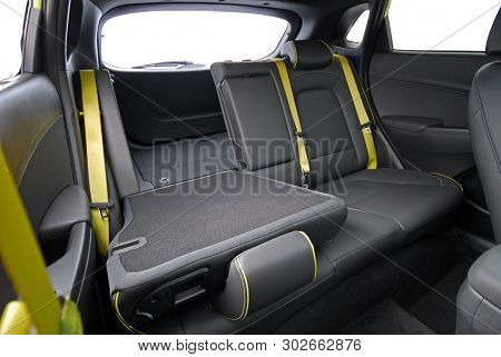 Down Rear Seats Of A Modern Passenger Car