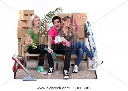 Young people moving home
