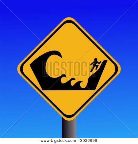 Warning Tsunami Prone Area