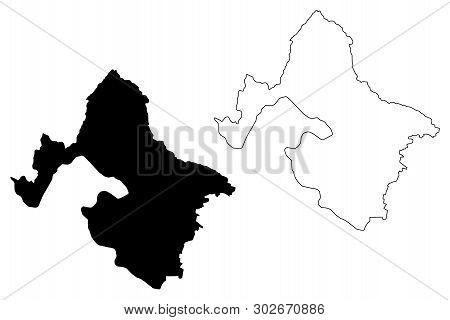 Mehedinti County (administrative Divisions Of Romania, Sud-vest Oltenia Development Region) Map Vect