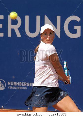 Nuremberg, Germany - May 23, 2019: Kazach Tennis Player Yulia Putintseva At The Euro 250.000 Wta Ver
