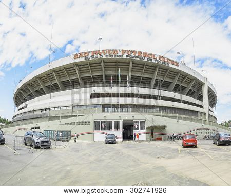 Sao Paulo Sp, Brazil - March 04, 2019: Cicero Pompeu De Toledo Stadium, Also Known As Estadio Morumb