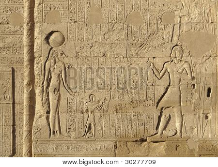 Relief At The Esana Temple In Egypt