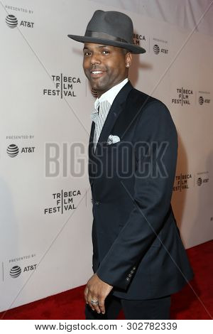 NEW YORK - APR 26: AJ Calloway attends the premiere of 'The Circle' during the 2017 Tribeca Film Festival at the at BMCC Tribeca PAC on April 26, 2017 in New York City.