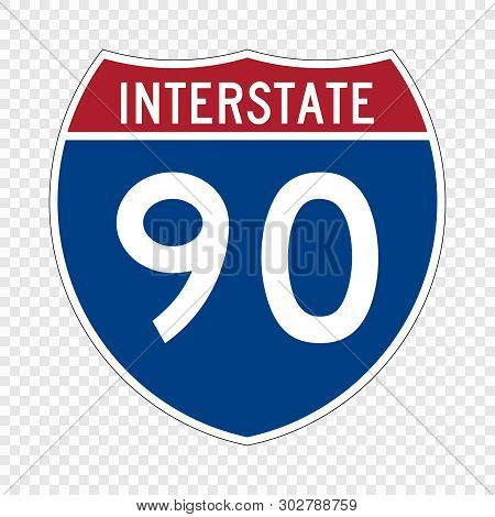 Usa Interstate Highway Road Sign . Template For Your Design