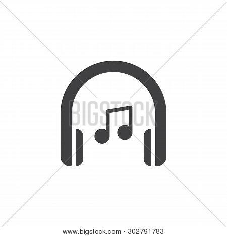 Headphones Music Note Vector & Photo (Free Trial) | Bigstock