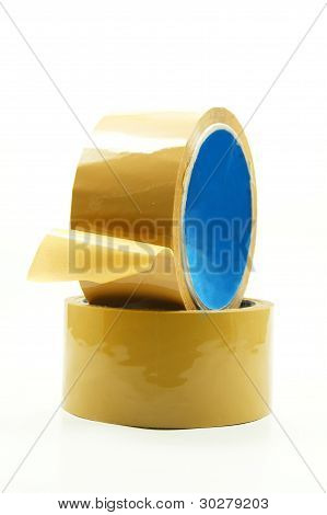 two insulating adhesive on white background