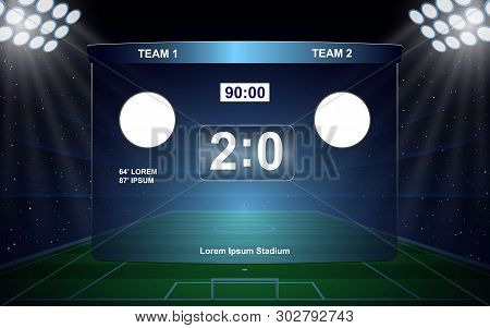 Football Scoreboard Broadcast Graphic Soccer Template . Template For Your Design