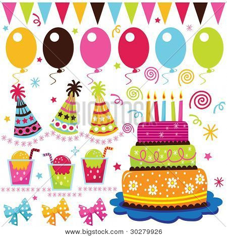 Colorful Birthday Set