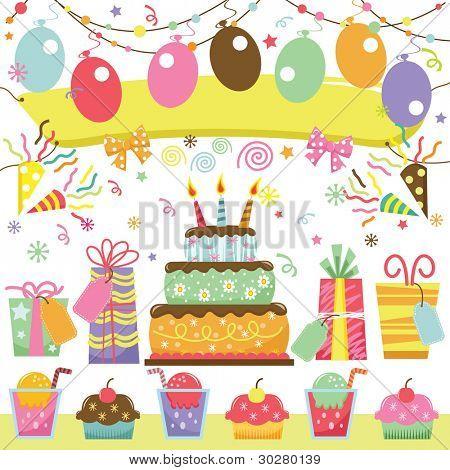 Retro Birthday Party Set