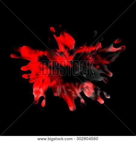 Color Water Splash On Black Background. Eps10 Vector