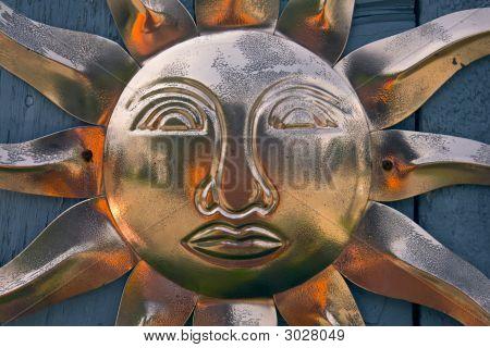 Copper Sun Wall Ornament