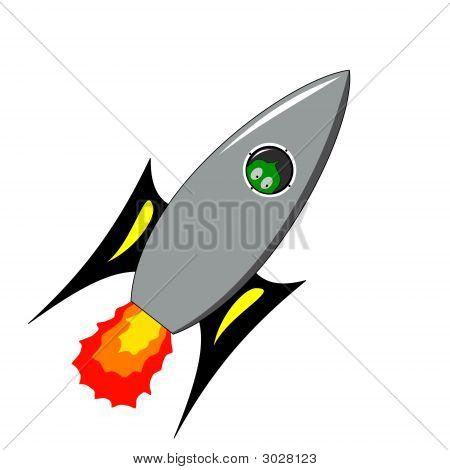 Alien In Rocket