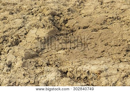 Ground Dirt Soil Soil Sand Clay Alumina Texture Background Close-up, Clay Soil Around The Constructi