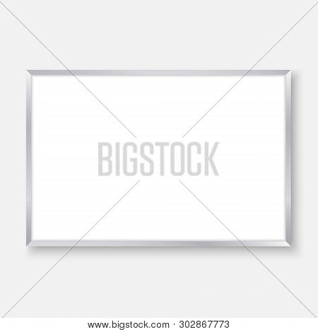 3d Realistic Empty Whiteboard With Color Markers, White Board Background