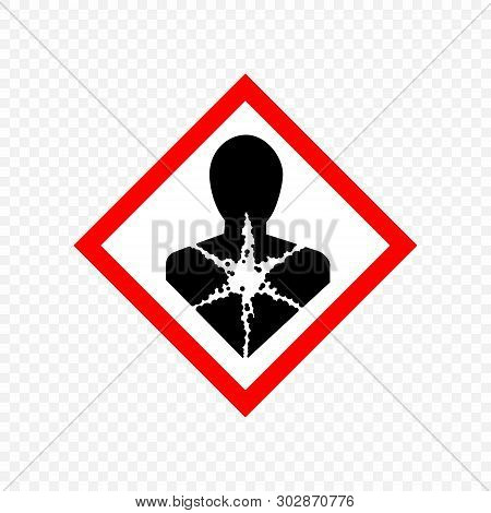 Carcinogen Warning Sign. Hazard Symbols.  . Template For Your Design