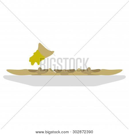 Isolated Bowl With Raviolis On A White Background - Vector