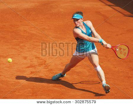 Nuremberg, Germany - May 24, 2019: Slowenian Player Tamara Zidansek At The Euro 250.000 Wta Versiche