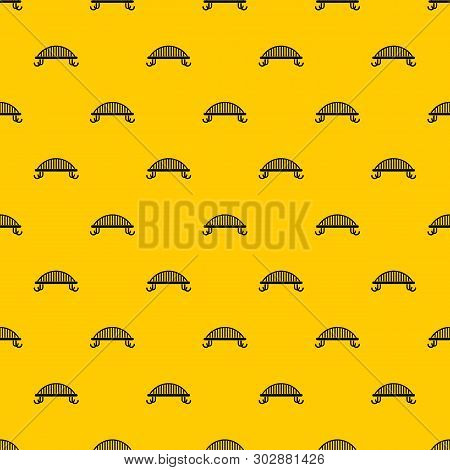Bench With Backrest Pattern Seamless Vector Repeat Geometric Yellow For Any Design