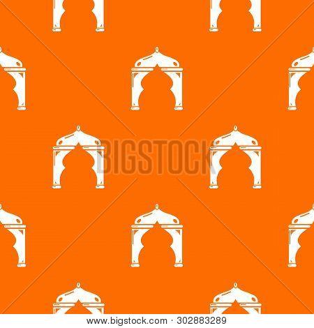 Archway Turkey Pattern Vector Orange For Any Web Design Best
