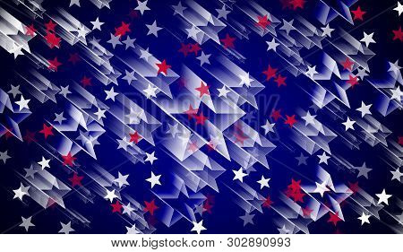 4, Fourth ,abstract ,american Background ,banner Background, Blue Background ,holiday ,confetti, Des