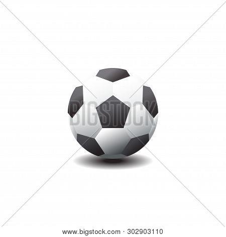 Classic Soccer Ball. Football Icon. Vector Illustration.soccer Ball. Vector Football Bol With Black