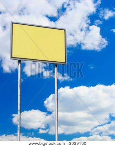 Yellow Blank Sign